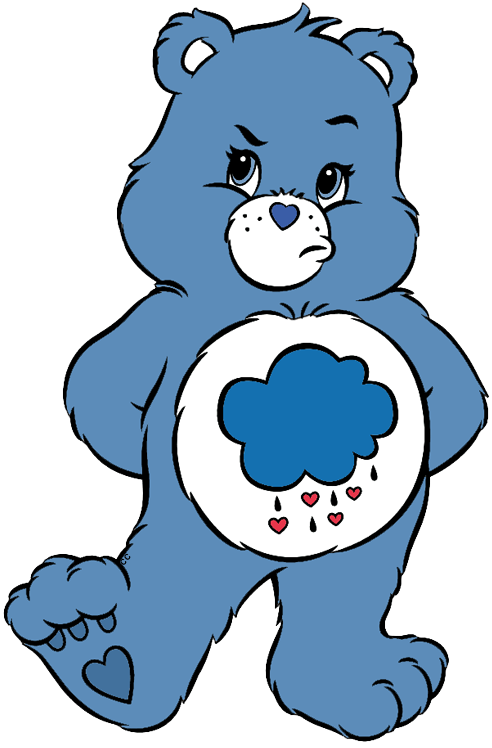 clipart stock GRUMPY BEAR