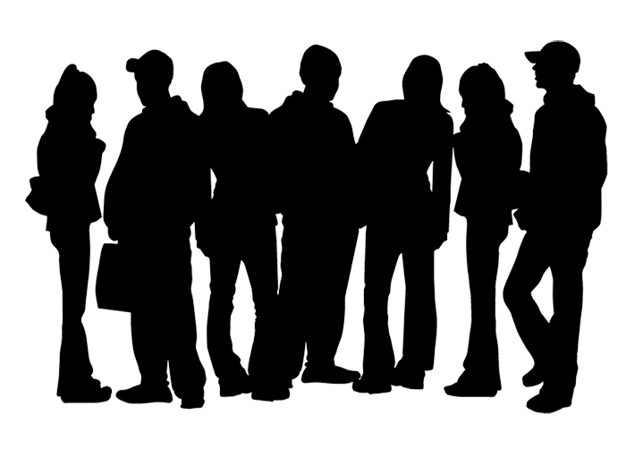image transparent silhouette teen clipart png