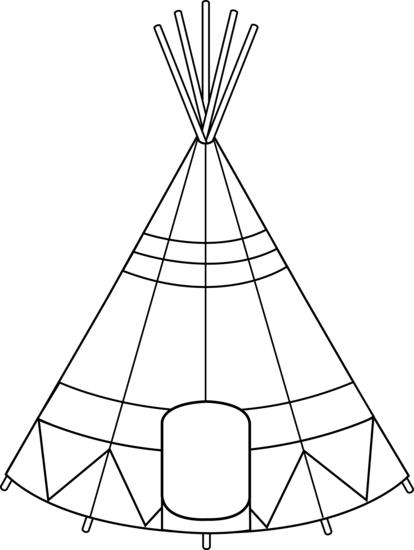 picture black and white library Teepee clipart. Part of the reason