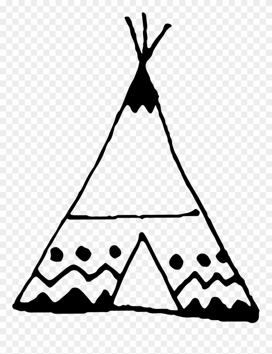 png black and white library Teepee clipart. Freeuse stock black and
