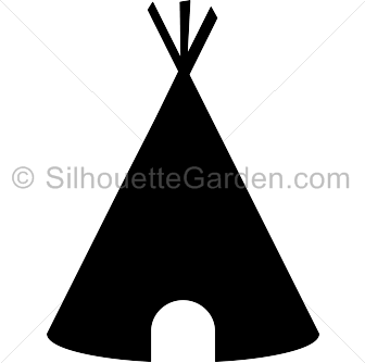 png royalty free library Teepee silhouette clip art