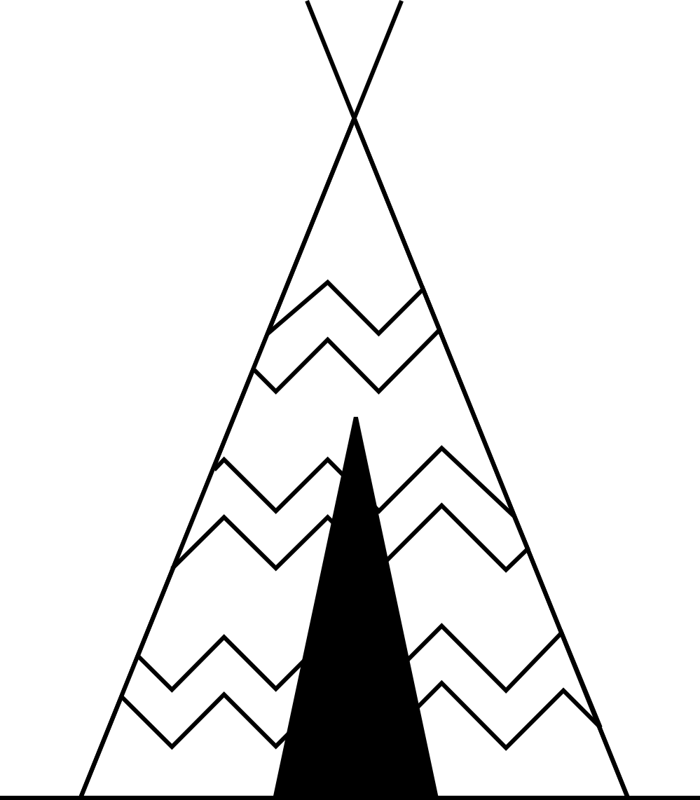 clip download  collection of high. Teepee clipart black and white