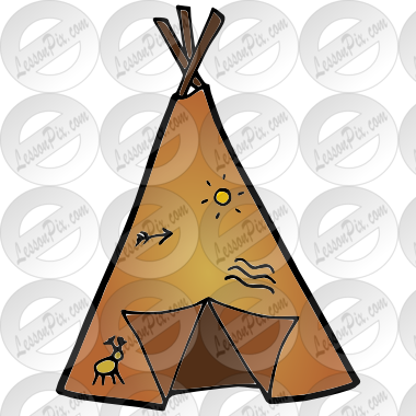 vector transparent library Teepee clipart. Picture for classroom therapy