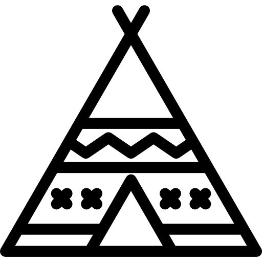 image library library Teepee clipart black and white. Tipi icon png svg