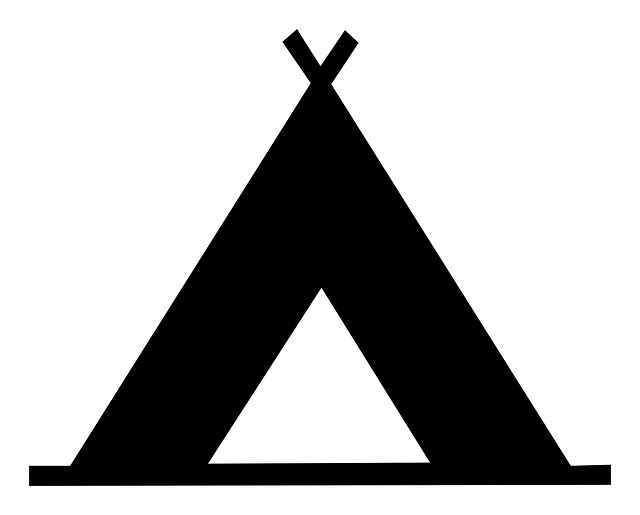 vector transparent Free image on pixabay. Black and white teepee clipart