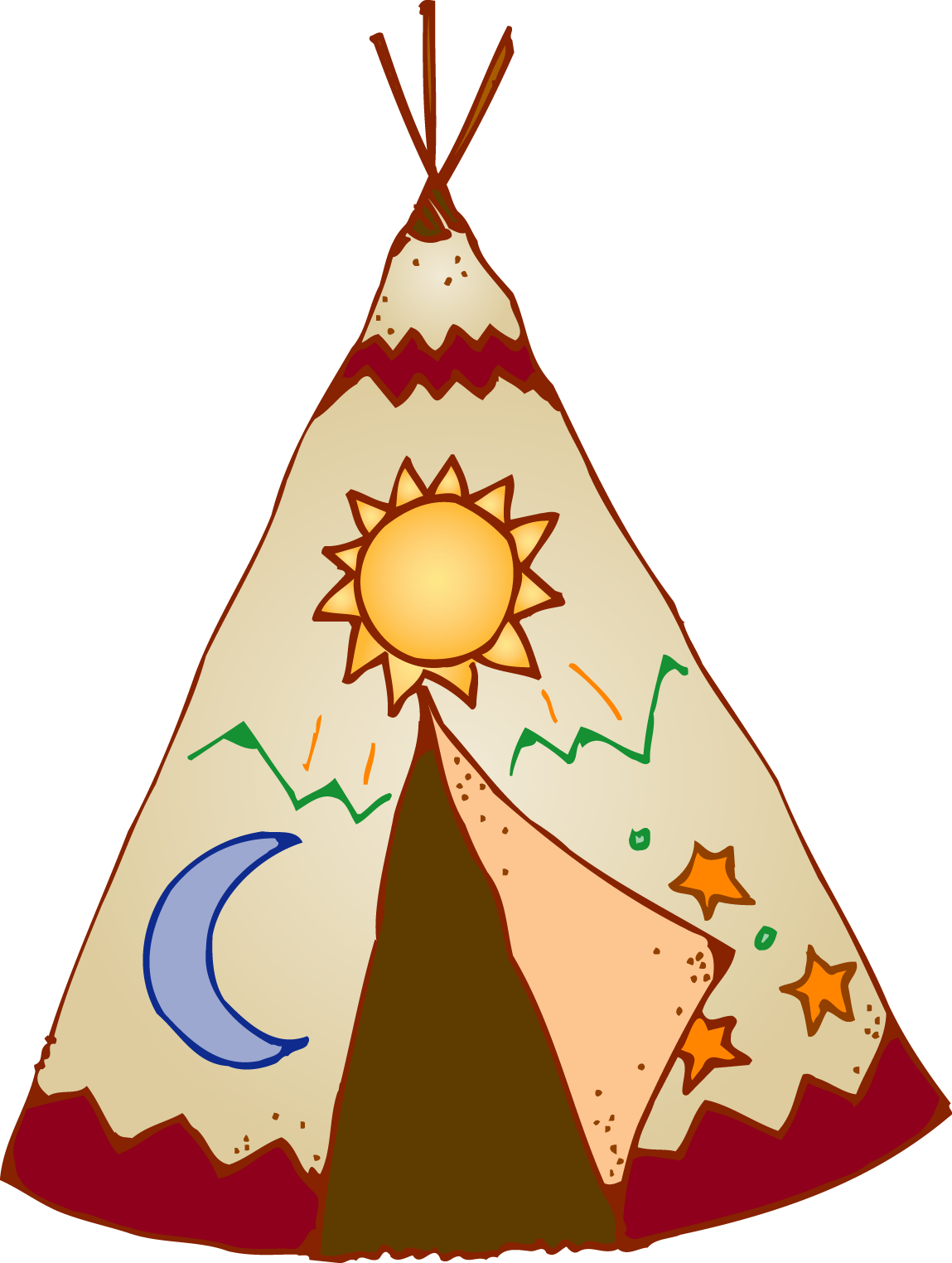 clip free stock Teepee Clipart at GetDrawings