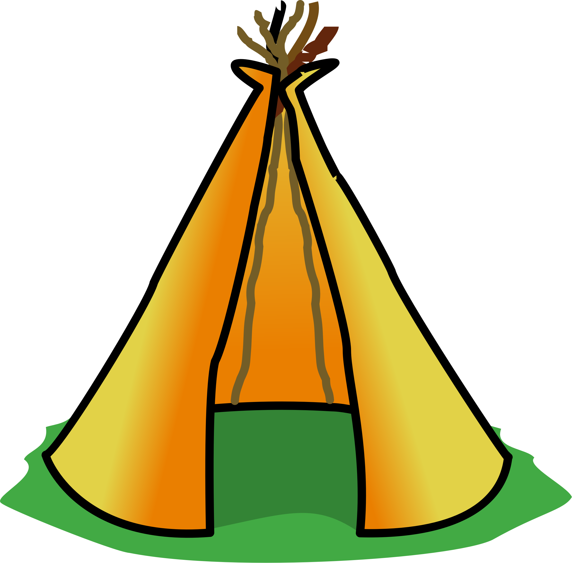 svg black and white library Big image png. Teepee clipart