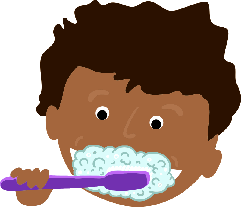 clip art freeuse stock African kid teeth medium. Brushing clipart brushteeth.