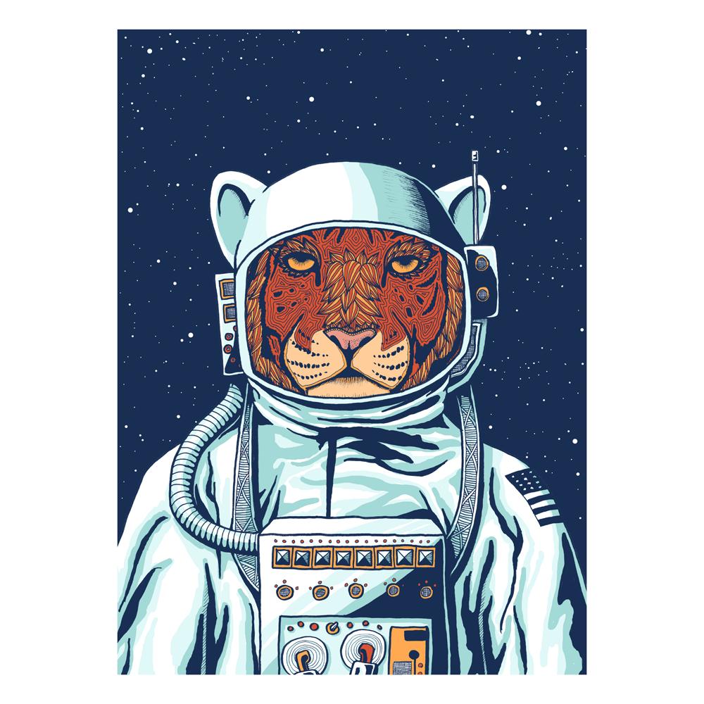 vector stock Tiger Astronaut by Priscilla Wilson at Telegraph