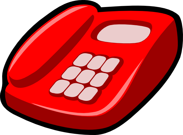 royalty free Modern red . Telephone clipart.