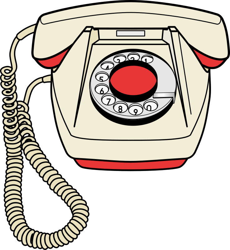 svg library stock Old Telephone Clipart