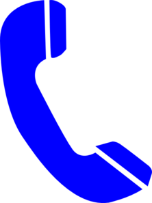 banner transparent library Phone Blue Clip Art at Clker