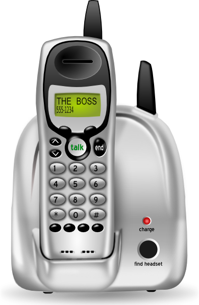 jpg free download Cordless Phone Clip Art at Clker