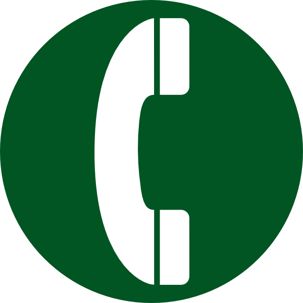 banner transparent library Telephone Icon Clip Art at Clker