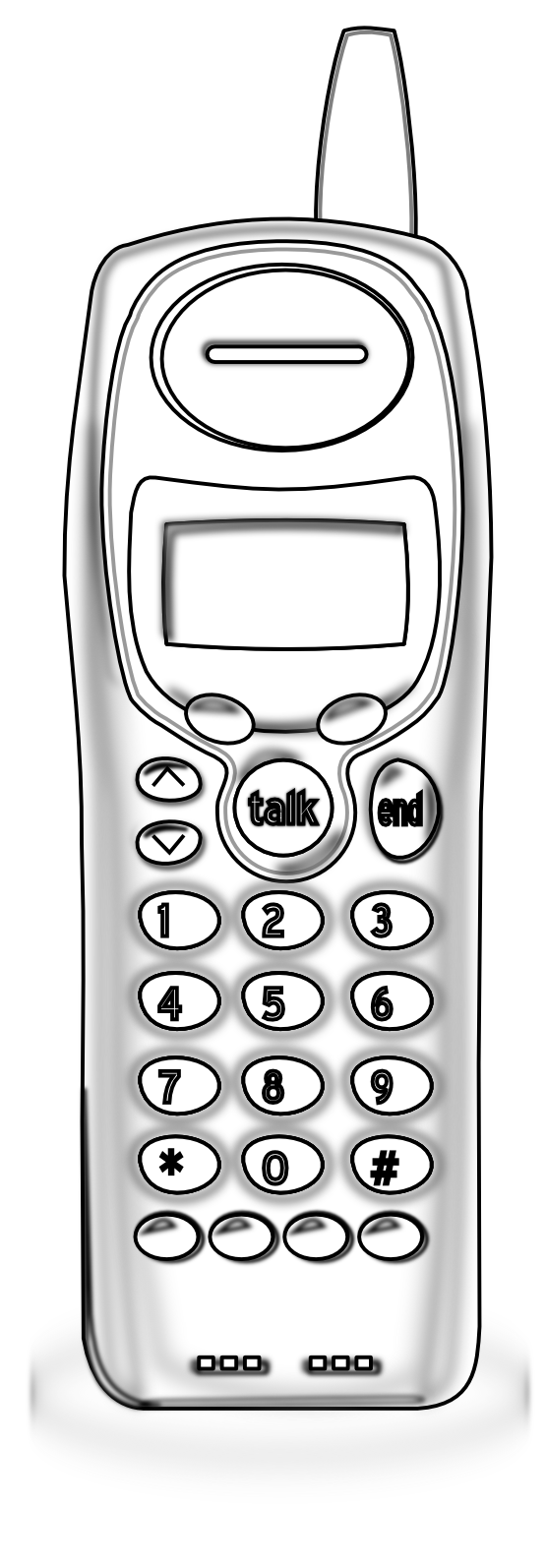 image free library Cordless phone clipart