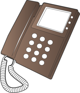 image black and white library Telephone clipart vector. Clip art at clker.