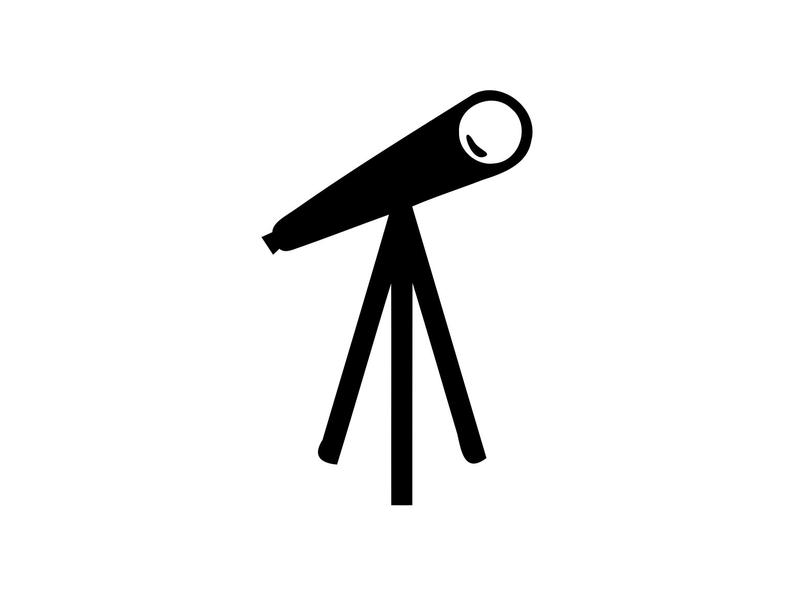 svg black and white stock Svg astronomy science vector. Telescope clipart.