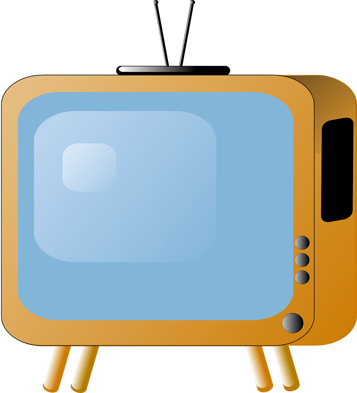 vector royalty free Tv time free on. Television clipart