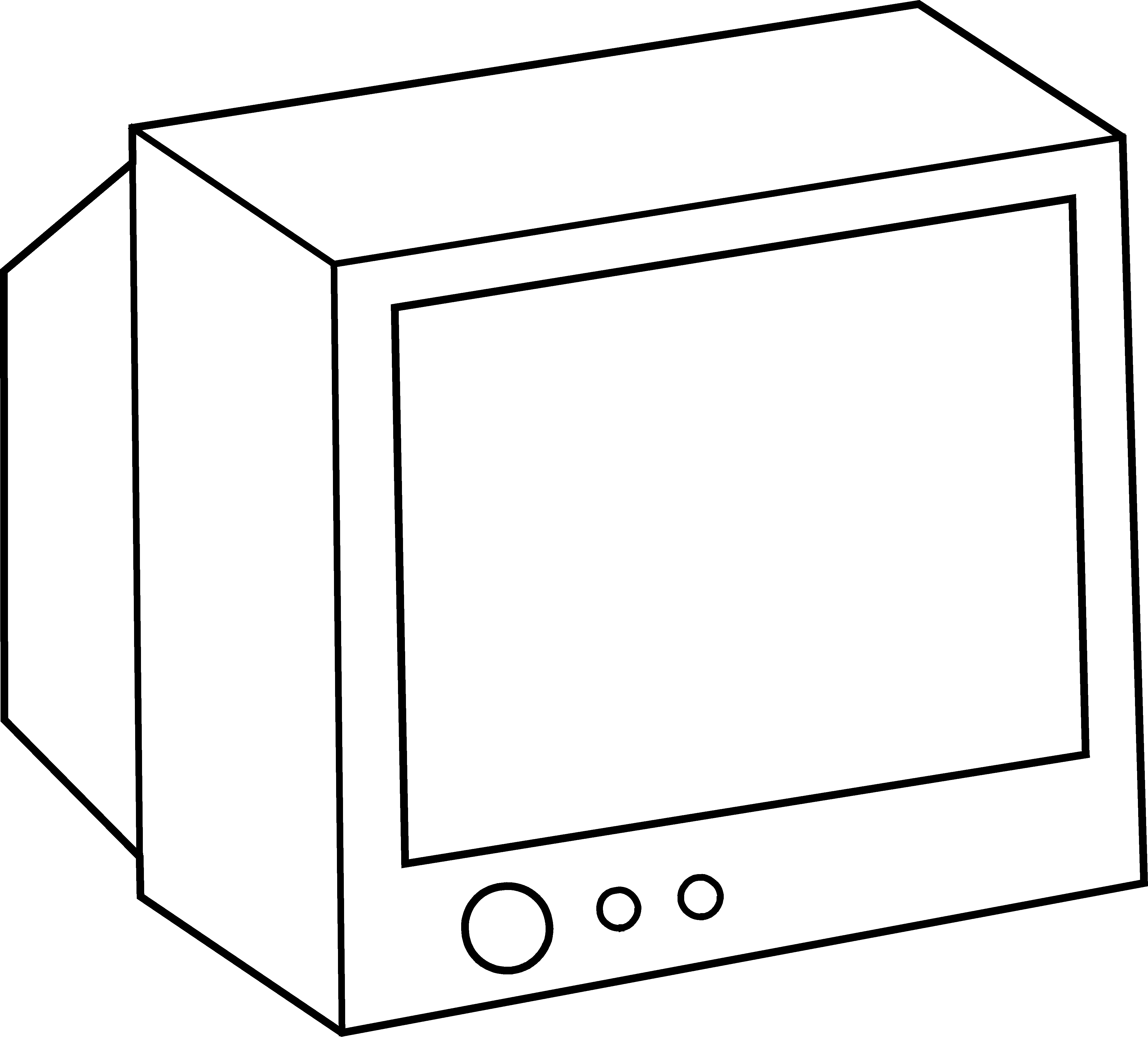 graphic library library Tv Screen Clipart Black And White