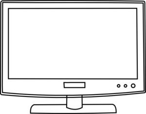 graphic black and white library Television Outline Clipart