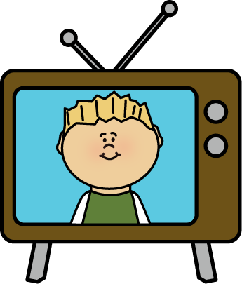 png library library Kid watching tv clipart. Television time free on.