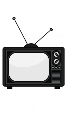 clipart black and white stock Television drawing. How to draw a.