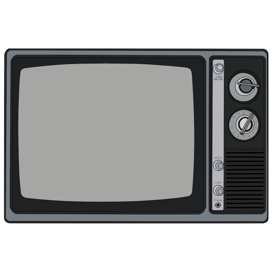 vector transparent download Television drawing. Good old black and.