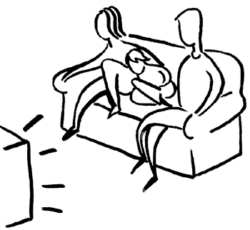 vector royalty free Watching Tv Drawing at GetDrawings