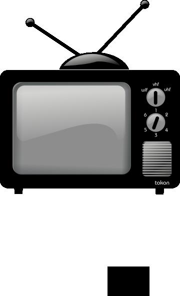 banner transparent library Tv Set Clip Art at Clker