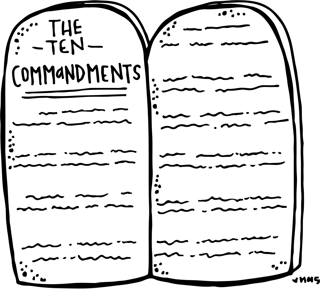 png download Ten commandments clipart. Melonheadz lds illustrating freebie
