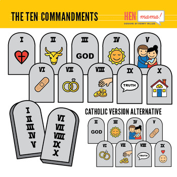 picture freeuse stock Ten commandments clipart. The clip art set