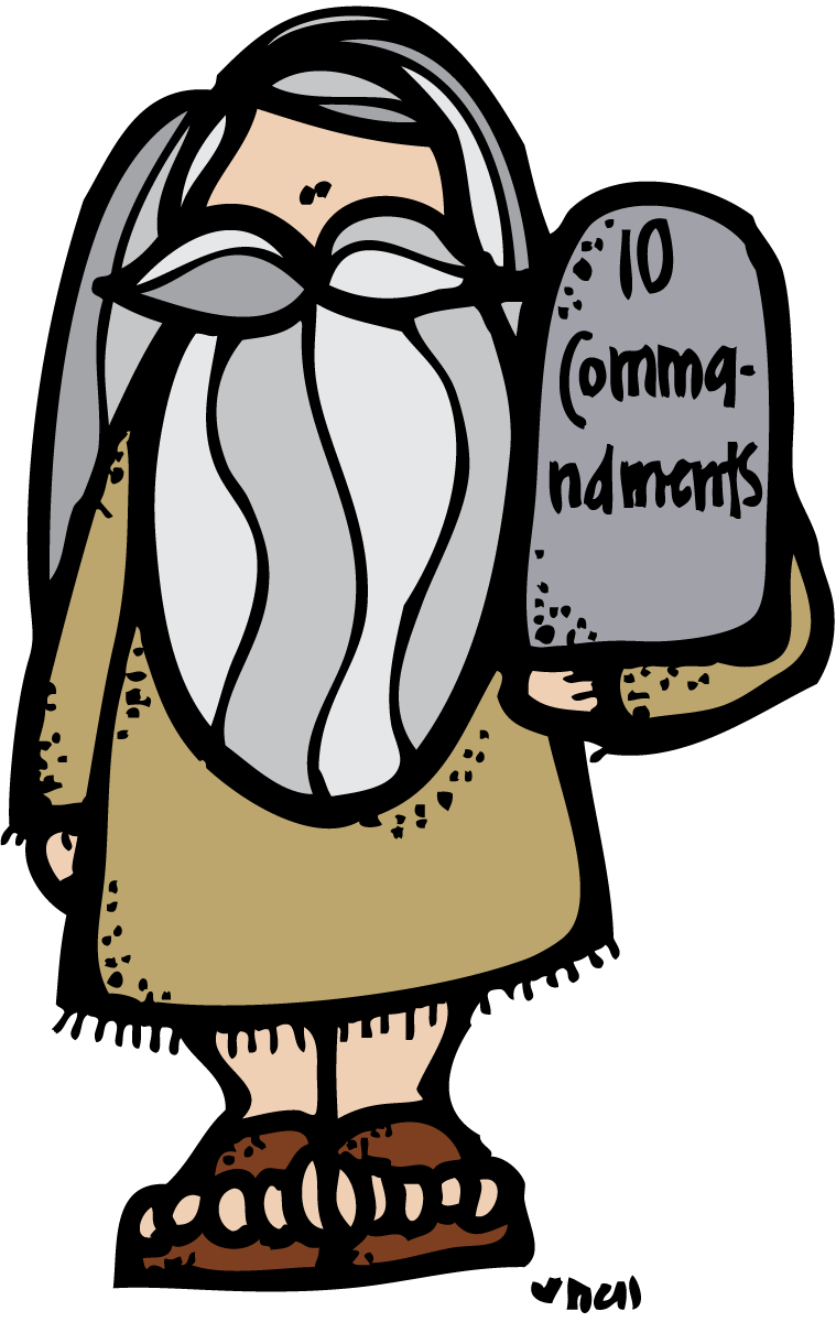clip art transparent Ten commandments clipart. Melonheadz lds illustrating my