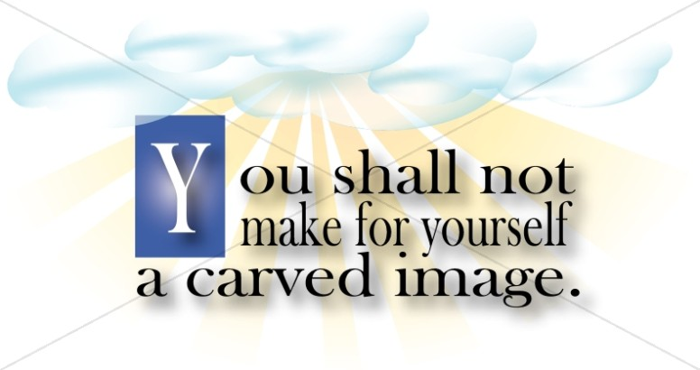 picture freeuse library Ten commandments clipart 2nd. Second commandment moses .