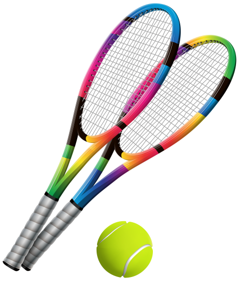 png download Rackets and ball clip. Tennis court clipart.