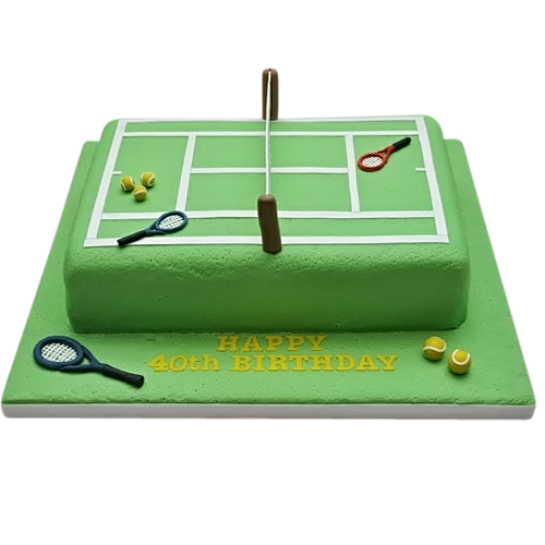 clip art black and white download Court birthday cake crazy. Tennis courts clipart