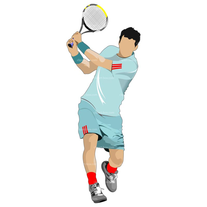 graphic black and white library Tennis player clipart. Free cliparts download clip