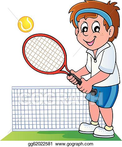 vector download Vector stock cartoon illustration. Tennis player clipart