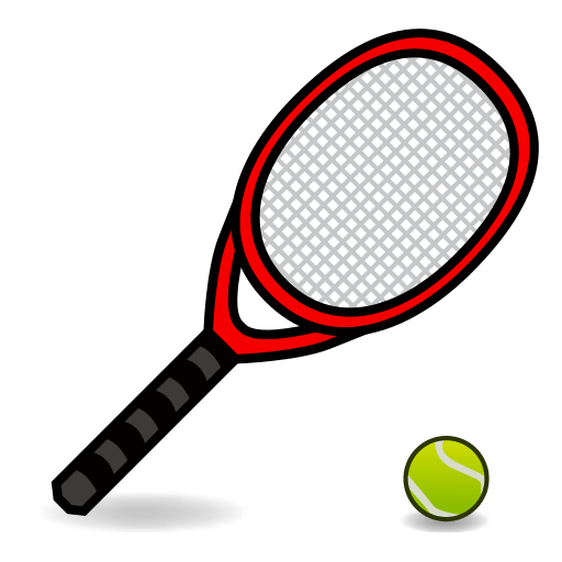 clip black and white stock Tennis racket and ball clipart. Racquet emoji for facebook
