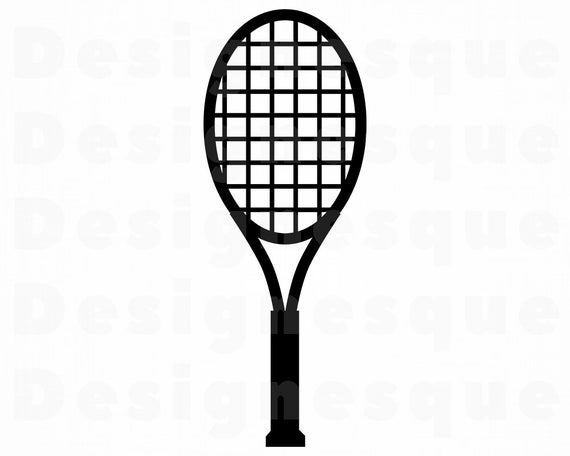 svg black and white Svg racquet files for. Tennis racket clipart.
