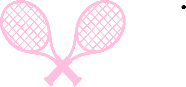 graphic royalty free download Pink rackets clip art. Tennis racket clipart.