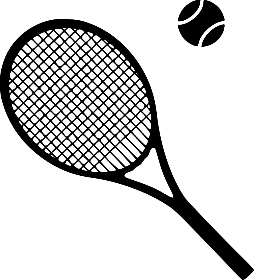 png royalty free stock Equipment svg png icon. Tennis racket clipart black and white