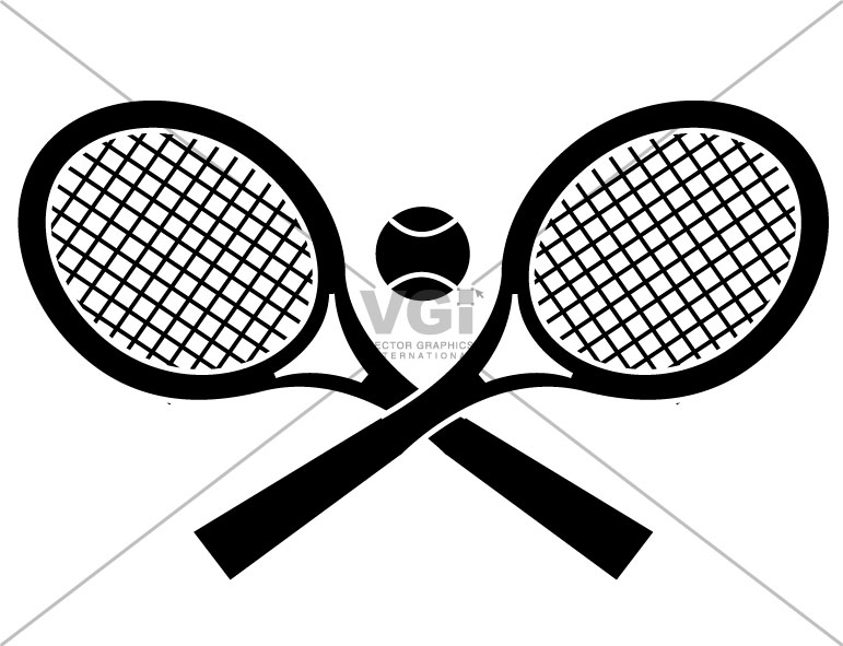 graphic black and white library Racket panda free images. Tennis rackets clipart.