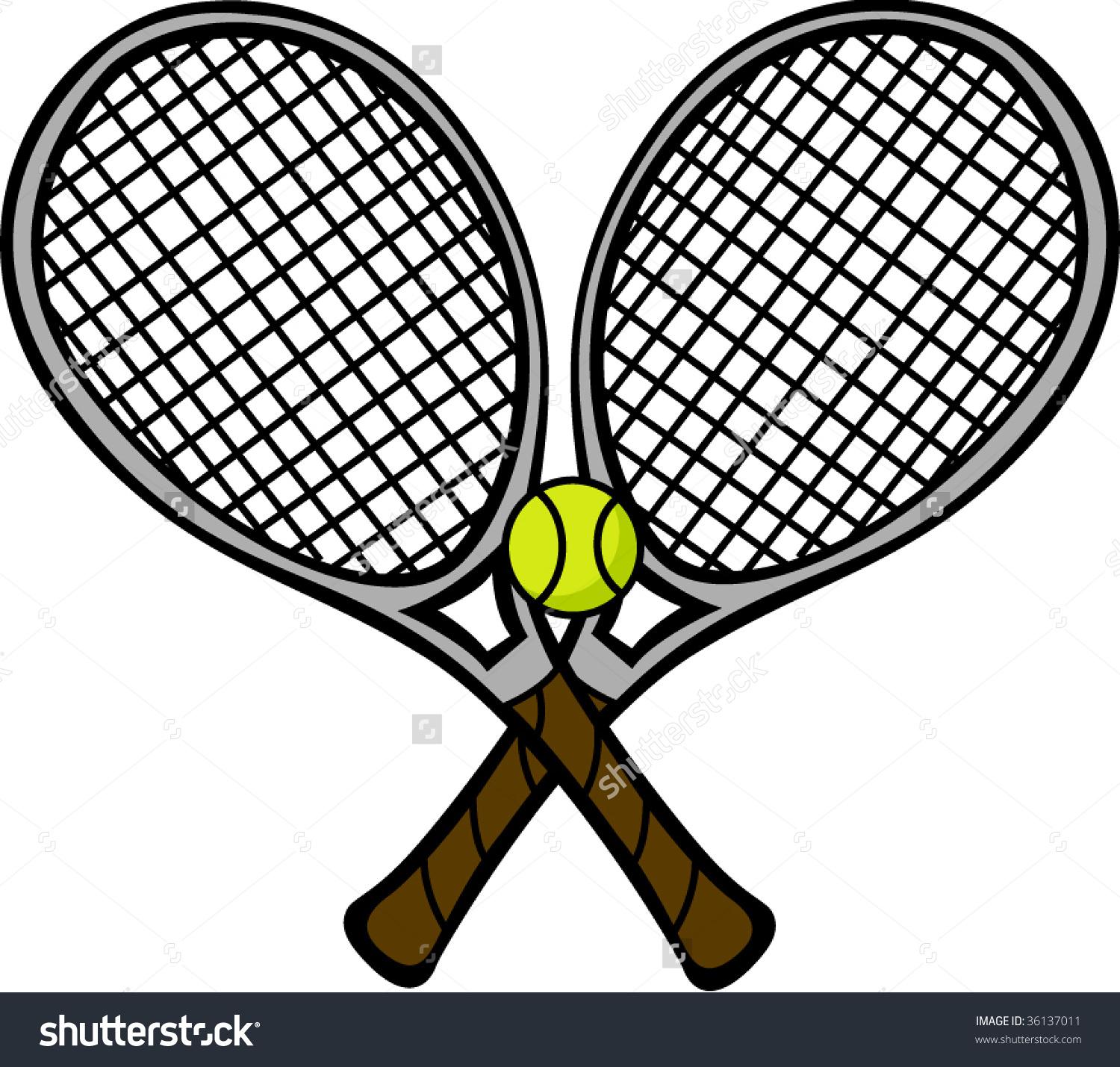 clip art free stock Tennis rackets clipart. Crossed free download best.