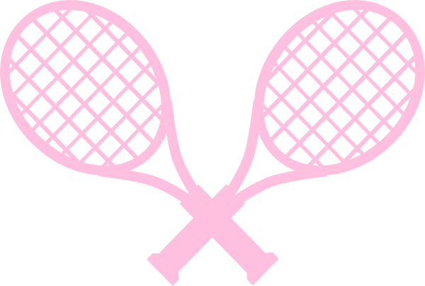 picture free Pink clip art at. Tennis rackets clipart.