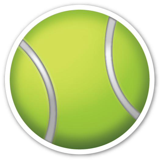 vector black and white Tennis racquet clipart. And ball emojistickers com