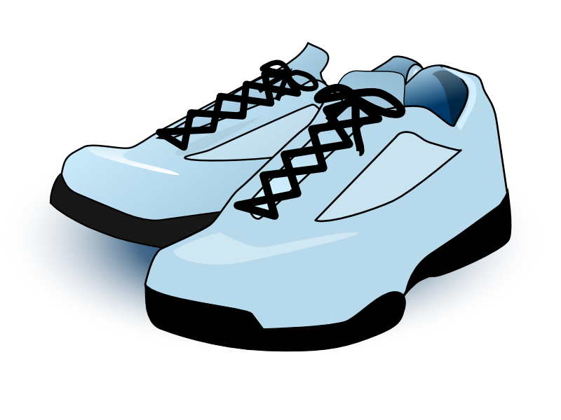 jpg library stock Free icons and png. Tennis shoes clipart