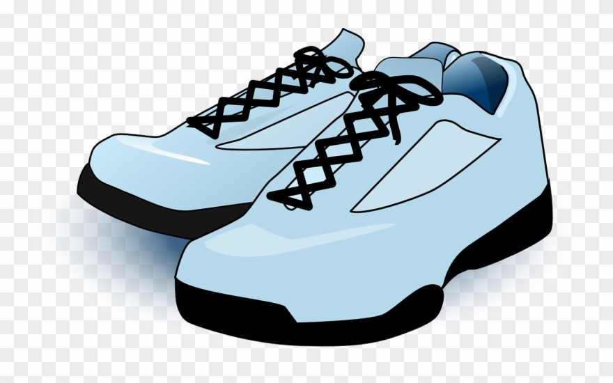 graphic black and white Tennis shoes clipart. Clip art png download.