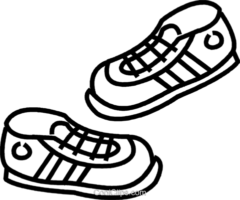 clip art black and white stock Tennis shoe clipart black and white. Shoes drawing at getdrawings