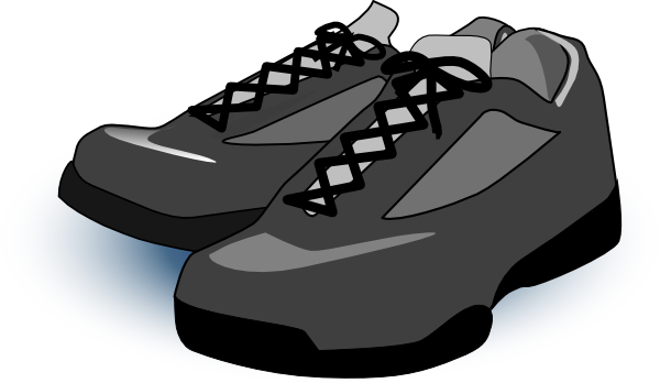 clip royalty free library Clip art at clker. Tennis shoes clipart black and white.