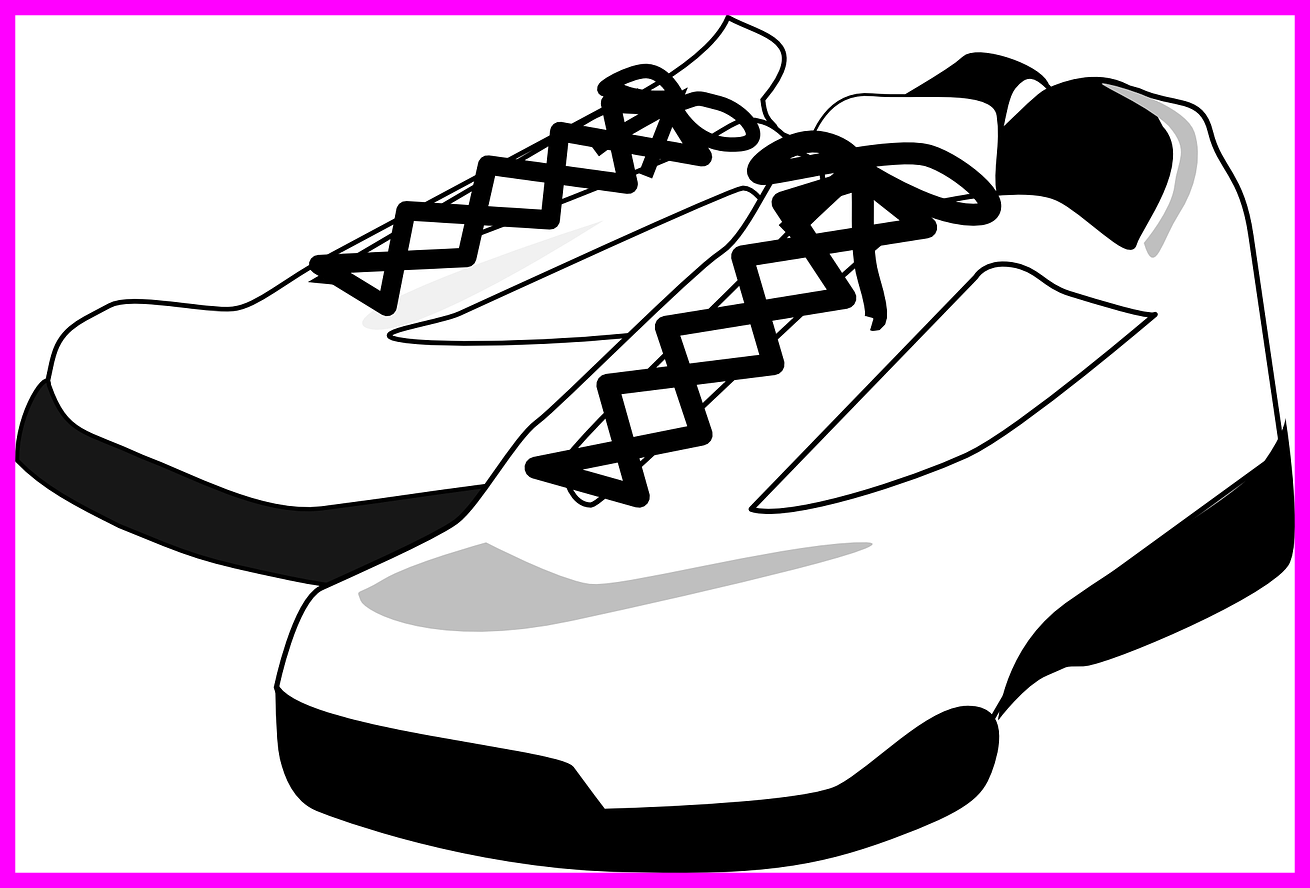 vector Tennis shoes clipart black and white. The best bowling clip